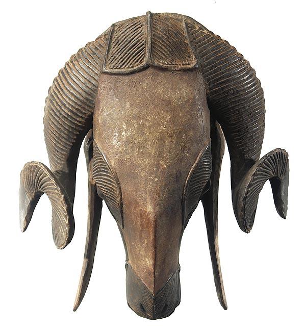 baule ram mask 8 ivory coast