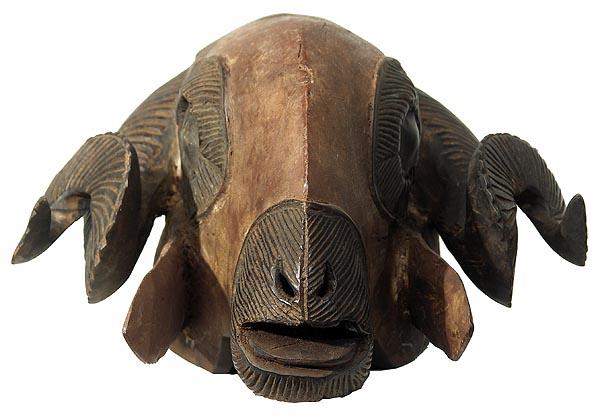 Baule Ram Mask 9 Ivory Coast