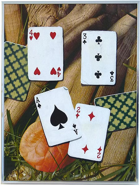 Tim Hamill Trompe L Oeil Painting Playing Cards